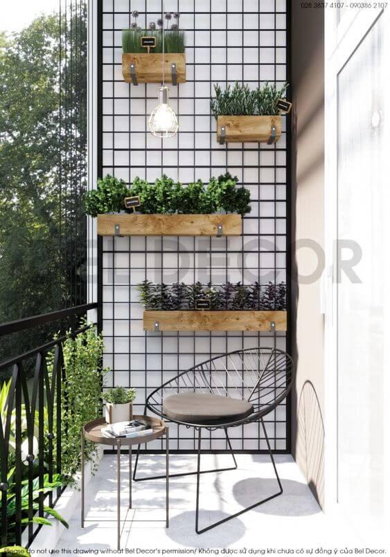 Vaso de parde para espaços pequenos e modernos