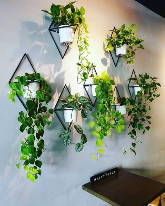 Suporte de plantas preto