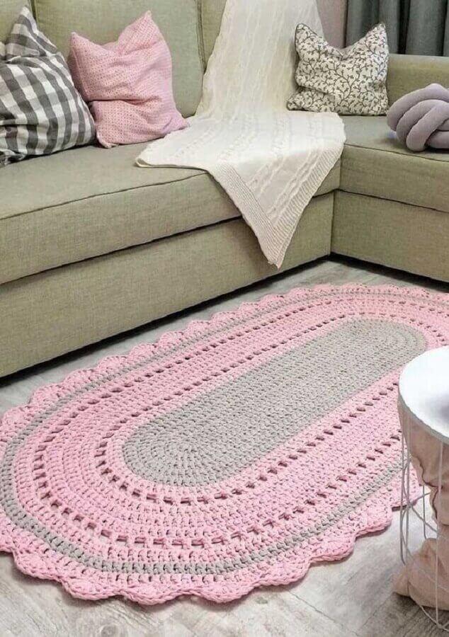 Tapete artesanal de crochê