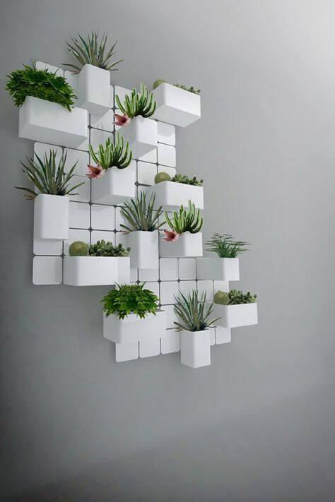 Vaso de parede branca