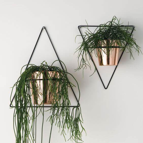 Suporte de ferro para vaso de parede