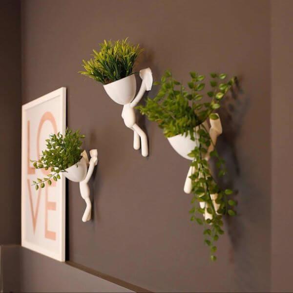 Vasos de parede decorativos e criativos