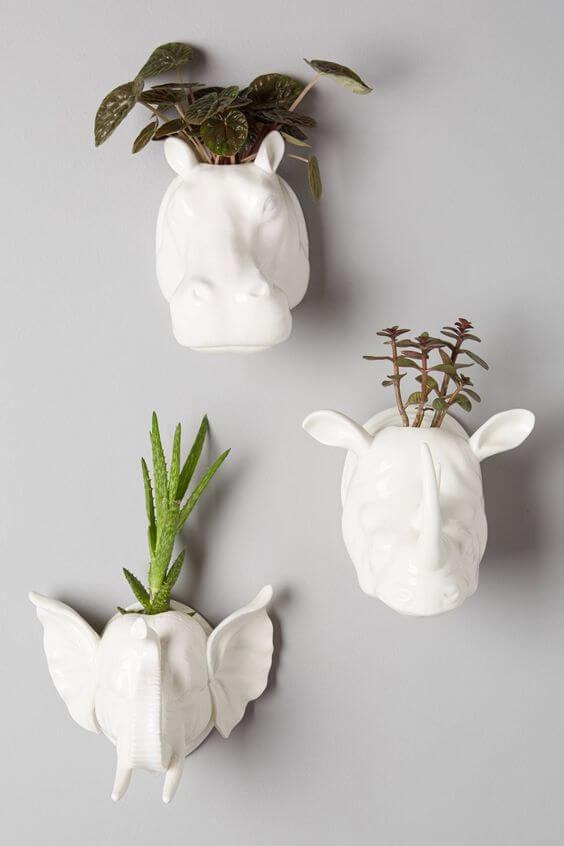 Vaso de planta para parede criativo