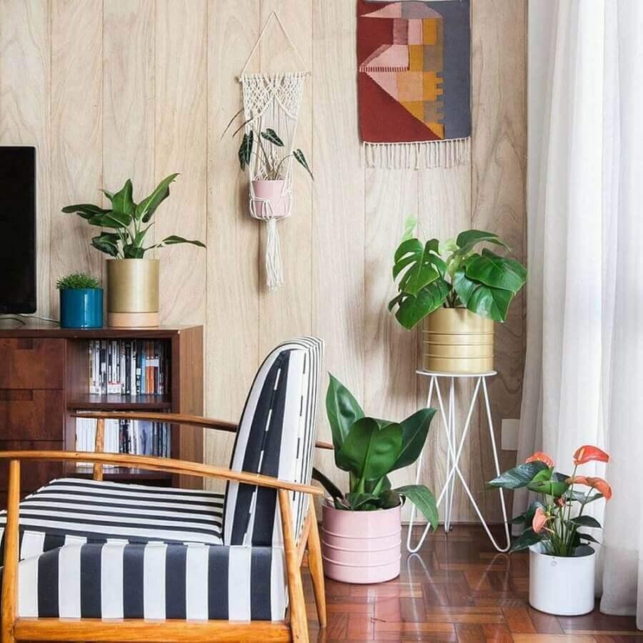vasos com plantas para decoração de sala Foto Behance