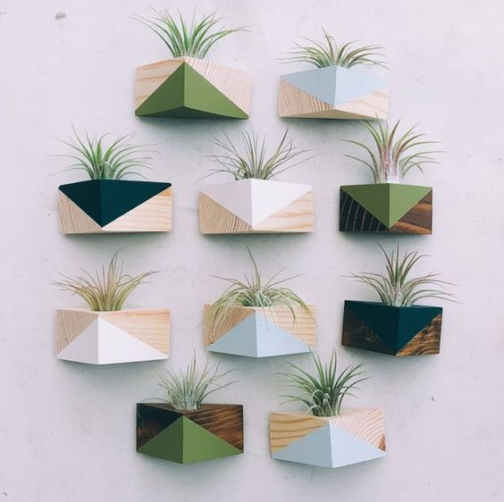 Vaso de parede moderno para plantas