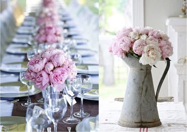 A Peônia rosa traz delicadeza para a decoração