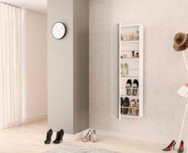 A sapateira de parede é perfeita para casas e apartamentos pequenos