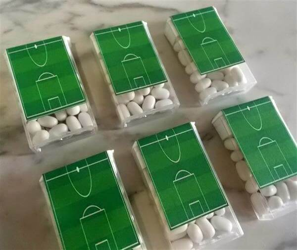 Custom tick box are ideas for football theme party