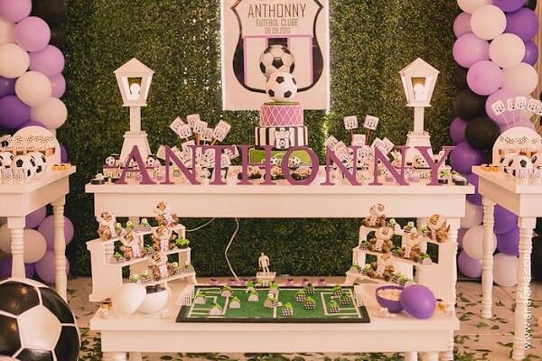 Decoration party theme football for girls