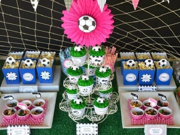Festa tema futebol ideias para as meninas