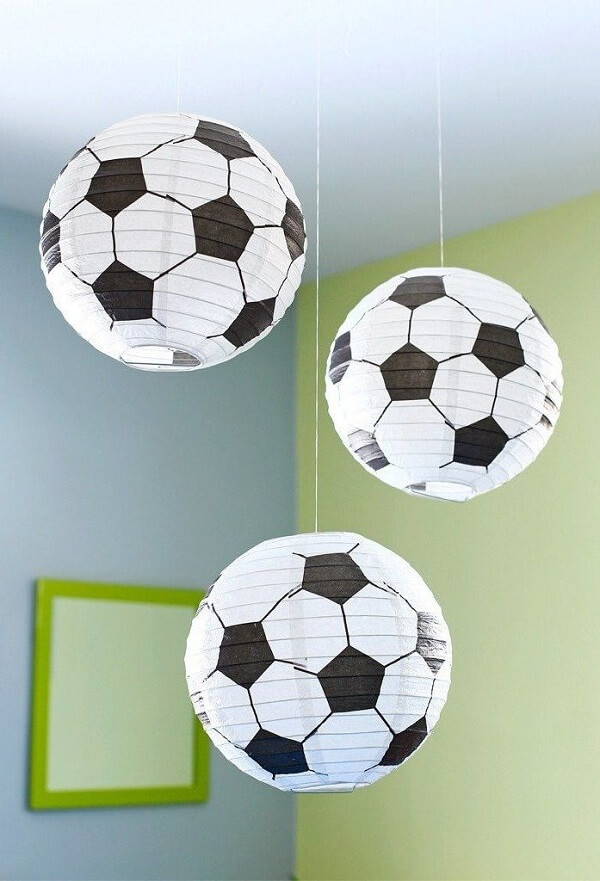 Standard round ball lamps for simple football theme party decoration