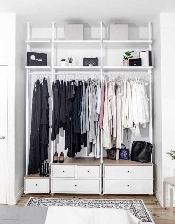 O closet melhora a estética e a organização do seu quarto