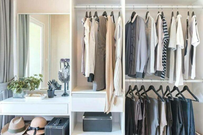 O closet modulado traz estilo e personalidade ao espaço