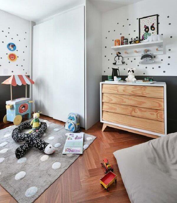 O guarda-roupa infantil com cômoda traz estilo e personalidade para a decoração