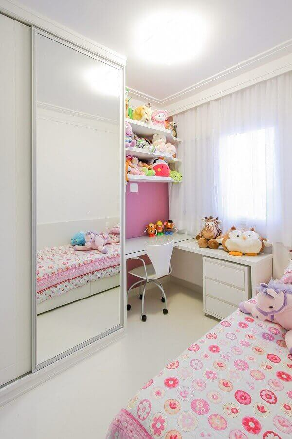 Children's wardrobe with sliding door assists in organizing children's clothes and shoes