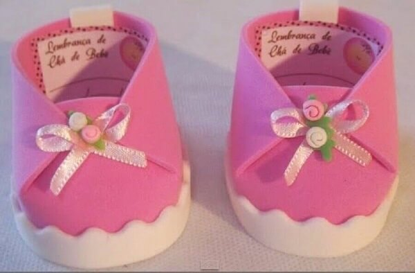 Pink slipper as EVA baby tea souvenirs
