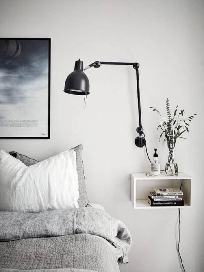 abajur de parede articulável para quarto de casal minimalista Foto Pinterest