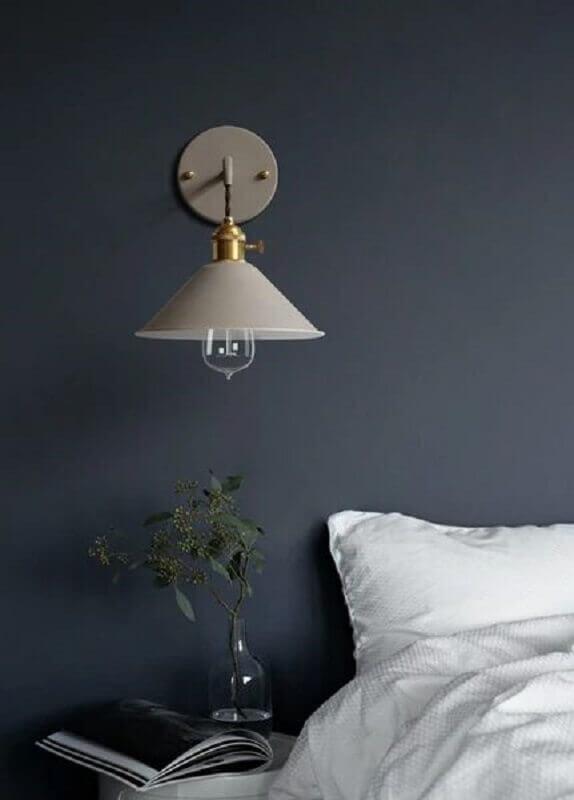 abajur de parede para cabeceira de cama Foto Pinterest