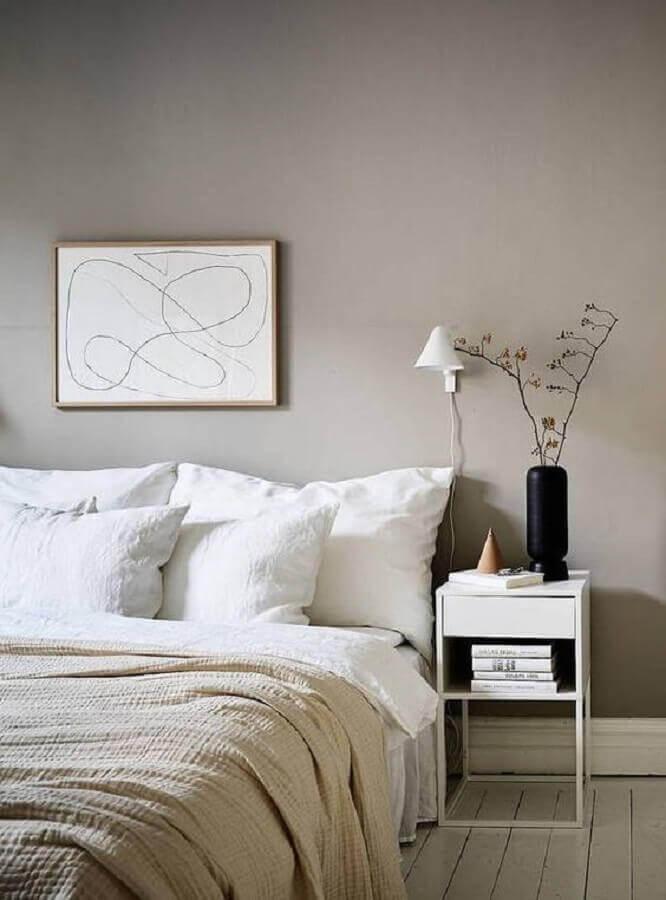 abajur de parede para quarto de casal cinza minimalista Foto Coco Lapine Design