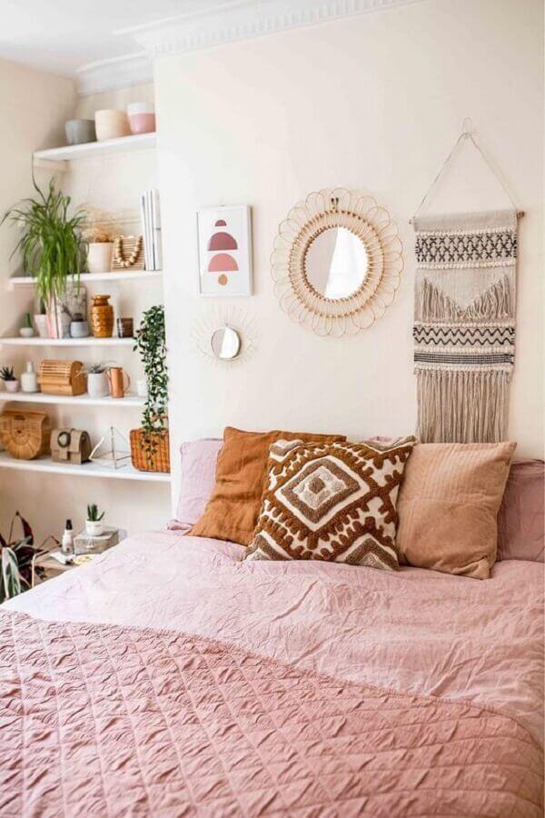 almofadas para quarto feminino branco e rosa Foto Pinterest