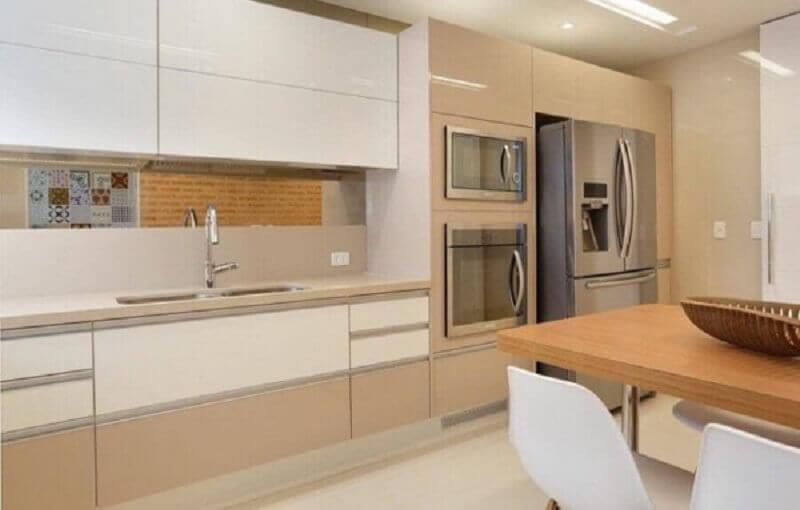 armário de cozinha planejado branco e cor pérola Foto Pinterest