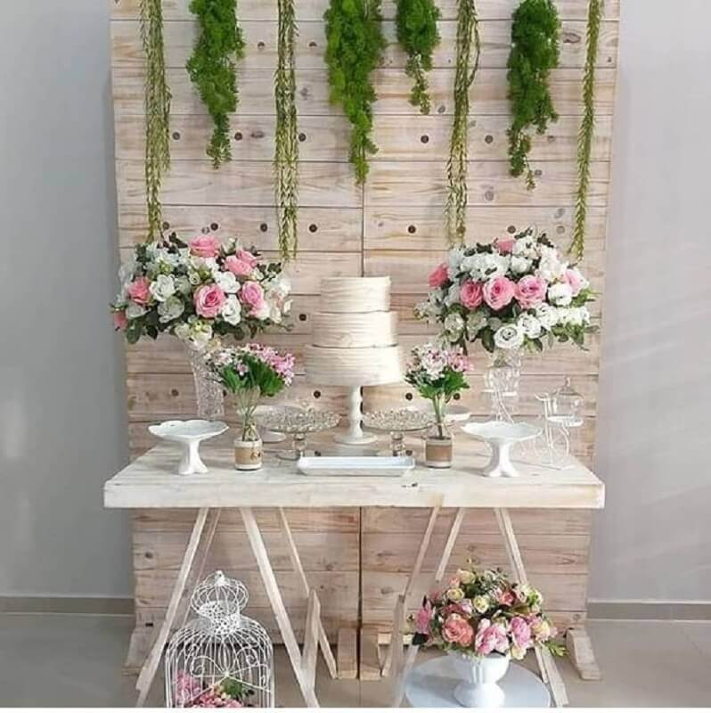 arranjo de rosas para decoração para bodas de cristal simples Foto Pinterest