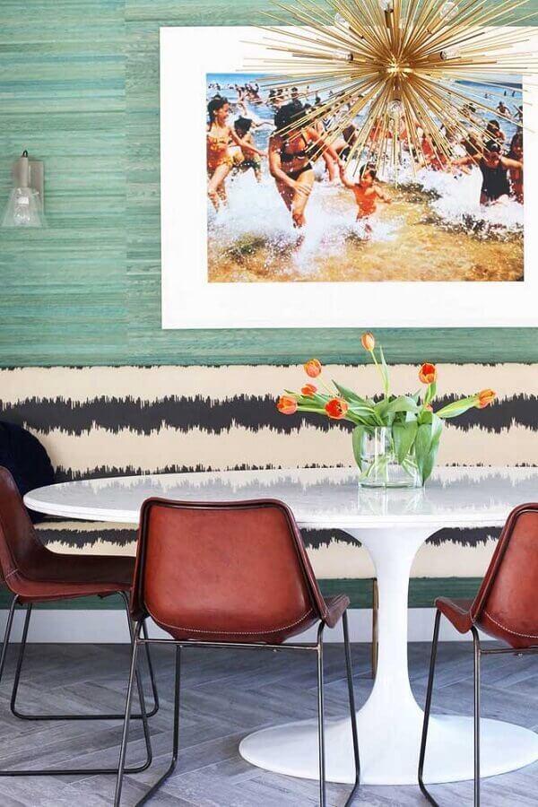 arranjos de flores para vaso para centro de mesa de jantar Foto Houzz