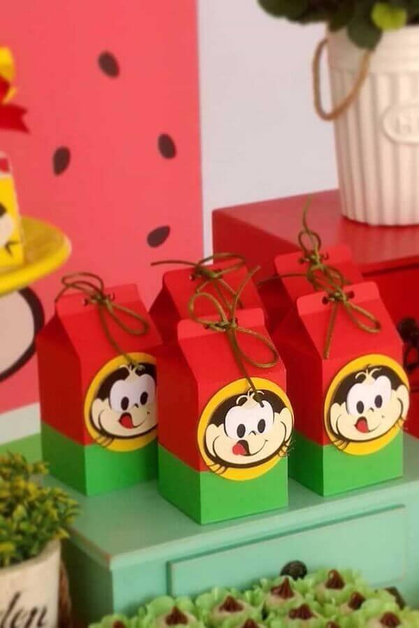 caixinhas de lembrancinhas para festa da magali Foto Festas Biz!