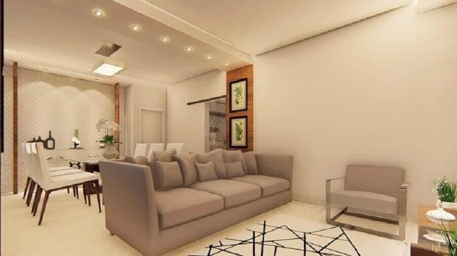 casa cor pérola moderna decorada com ambientes integrados Foto Arcture Eng & Arq