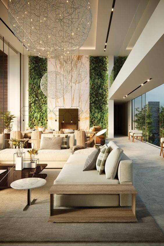 Decoração de mansão de luxo