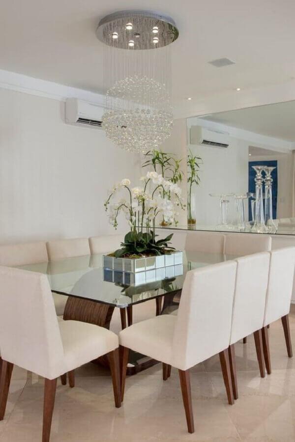 centro de mesa de jantar chique e espelhado Foto Homify