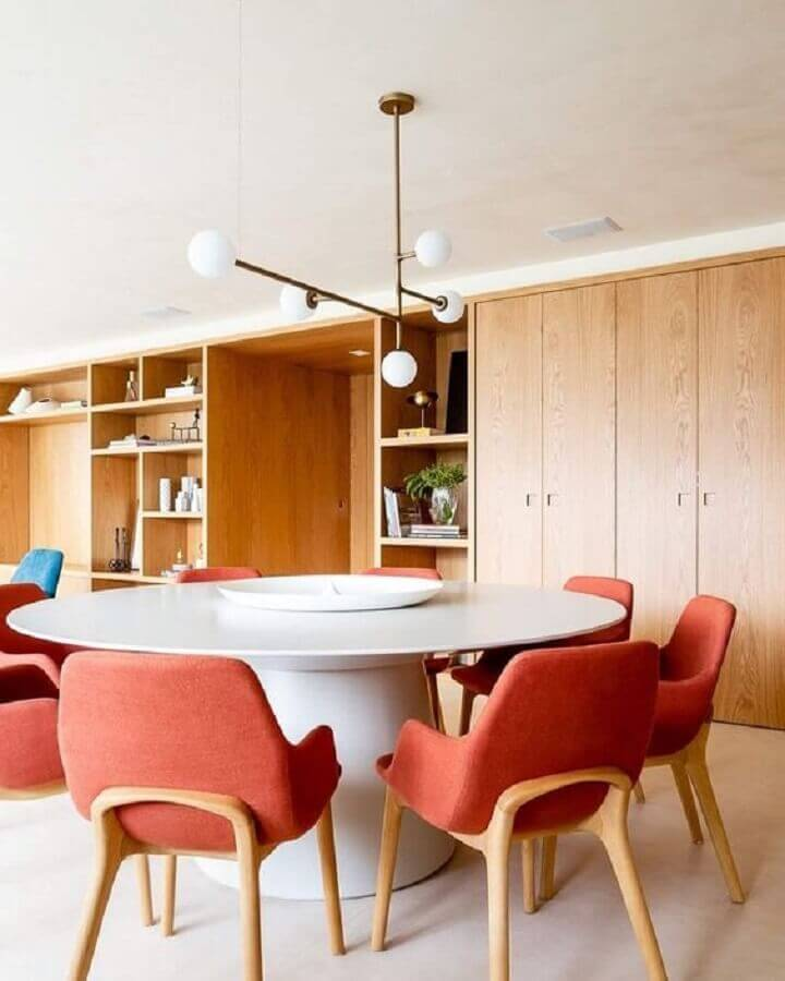 centro de mesa de jantar moderno Foto Cristiana Bertolucci Estúdio
