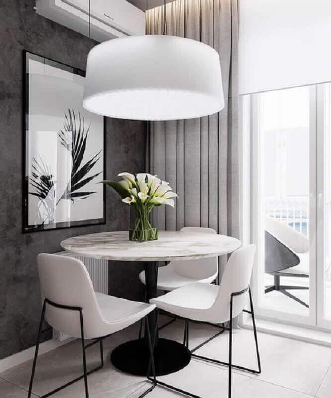 centro de mesa de jantar moderno com vaso de vidro Foto Pinterest