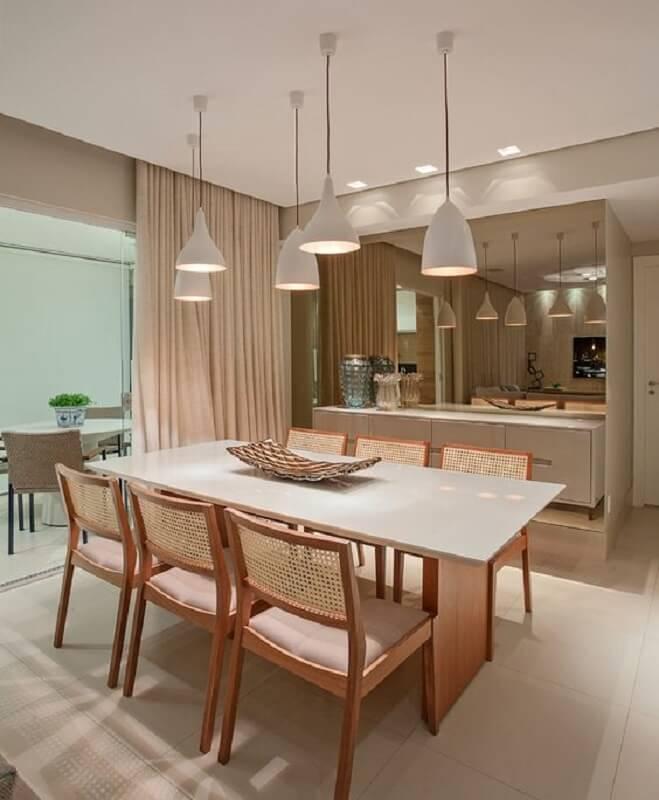 centro de mesa de jantar moderno para decoração de sala de jantar em tons neutros Foto Pinterest