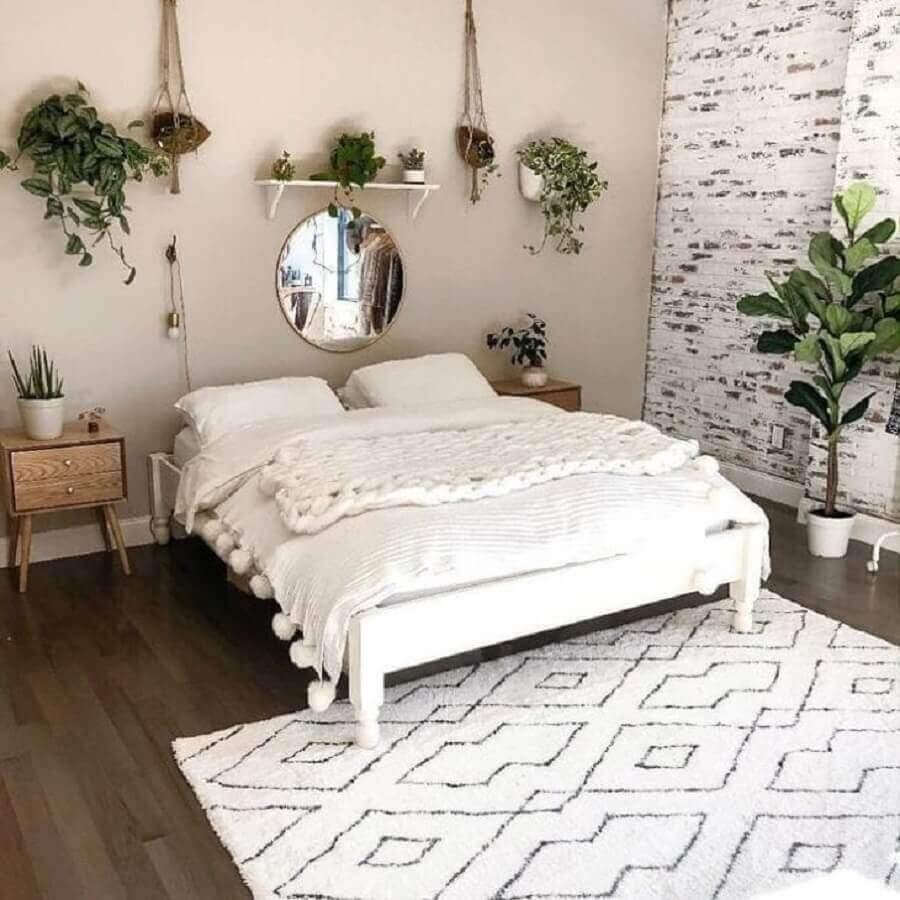 cor pérola na parede de quarto decorado com vários vasos de plantas Foto Cool Stuff Decor