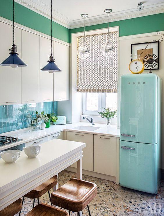 Escolha o estilo da sua cozinha pequena