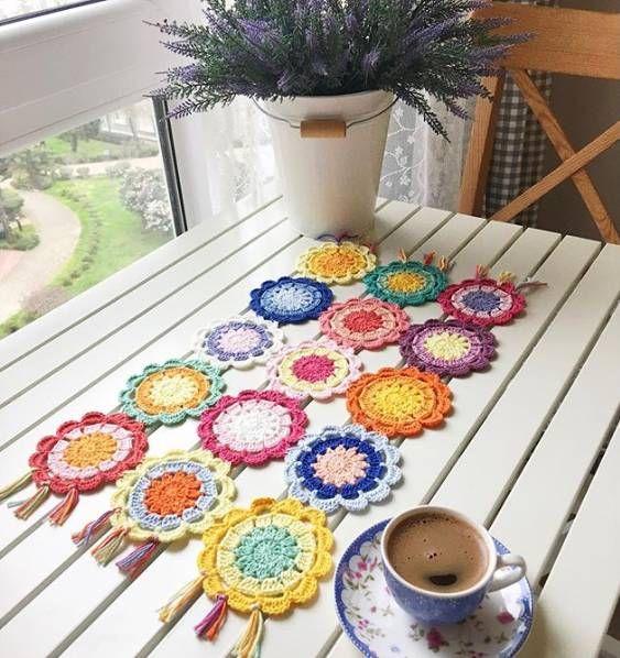 Caminho de mesa de crochê para iniciantes