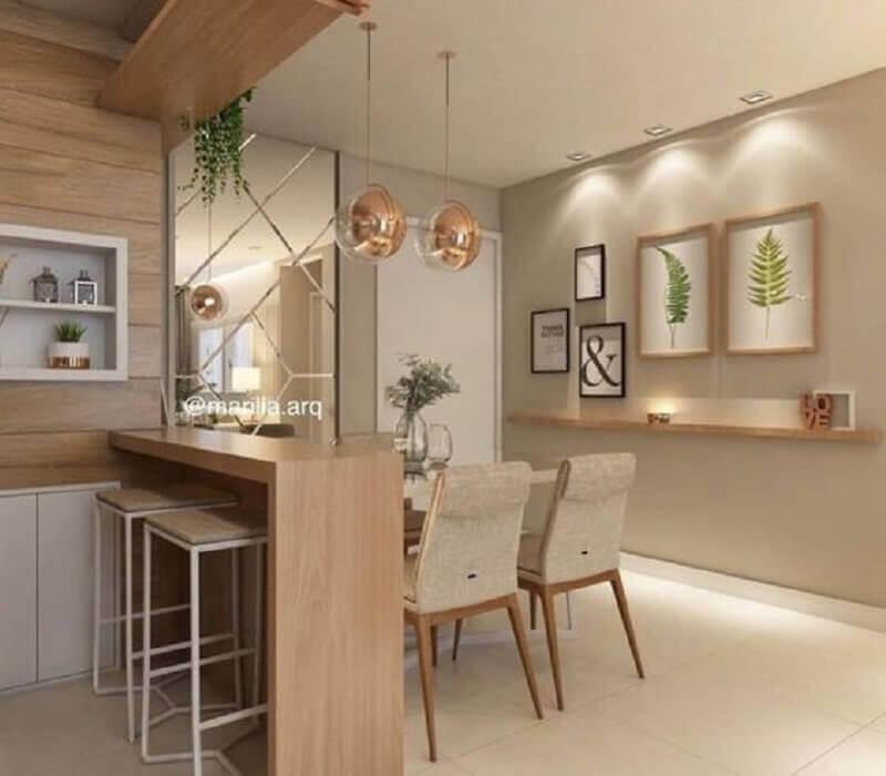 decoração cor pérola para cozinha integrada com sala de jantar Foto Archilovers