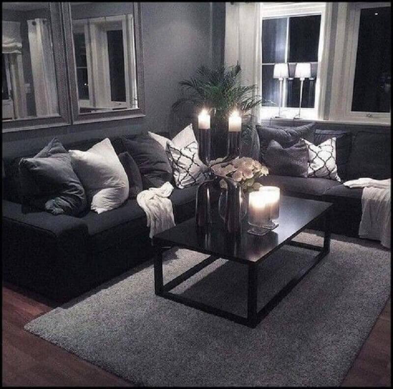 decoração de sala preta e cinza Foto We Love It