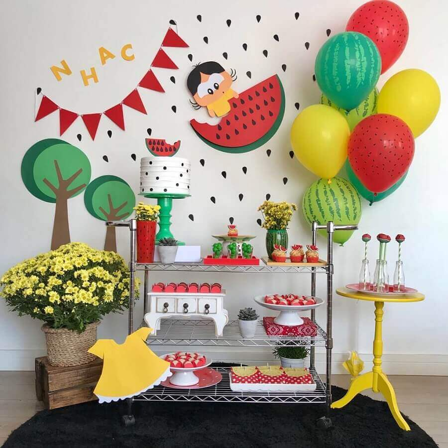modern decoration for magali birthday party Foto Dea Marques