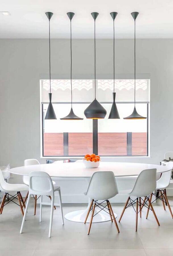 decoração para centro de mesa de jantar com fruteira branca Foto Pinterest