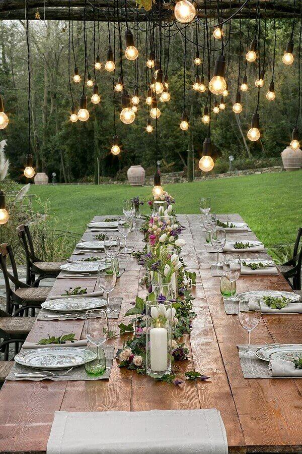 decoração rústica bodas de cristal Foto Pinterest