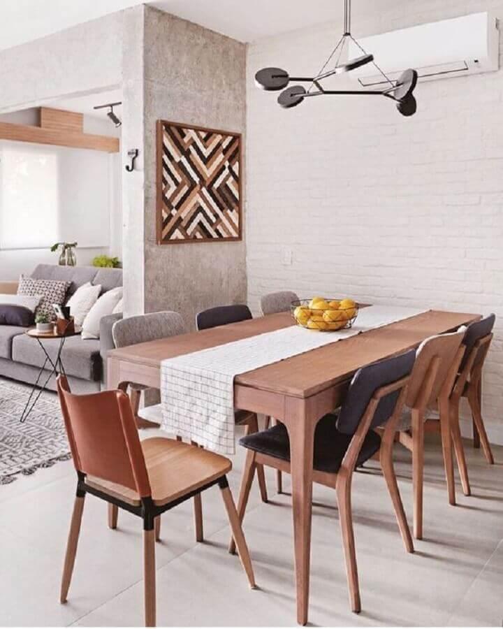 decoração simples com fruteira como centro de mesa de jantar Foto Pinterest
