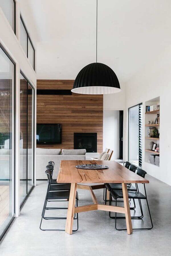 decoraçao clean com centro de mesa de jantar Foto Architecture Art Designs