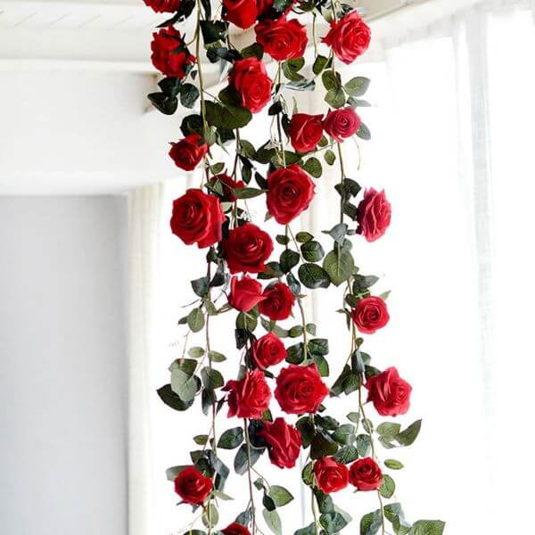 A rosa vermelha simboliza paixão e amor