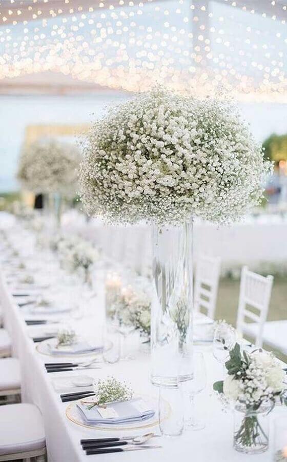 delicada decoração para festa bodas de cristal Foto Fab Mood