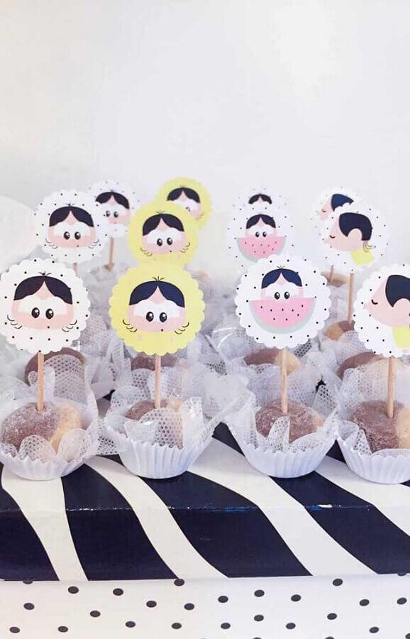 doces decorados para festa da magali baby Foto Pinterest