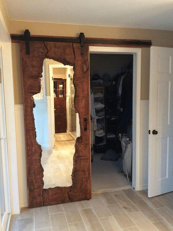Fechadura para porta de madeira com espelho