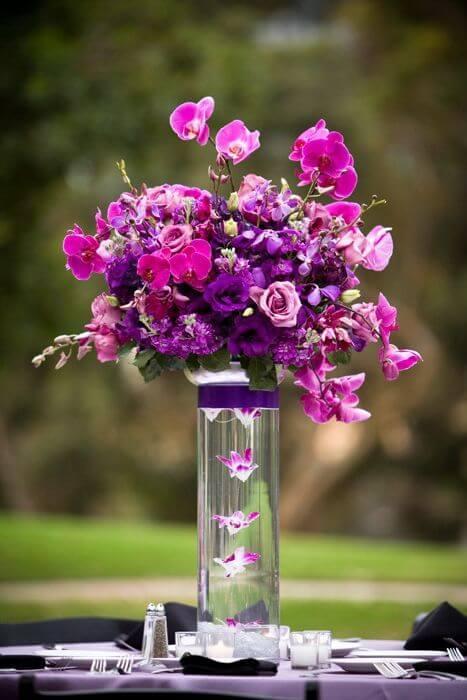 Flor roxa moderna