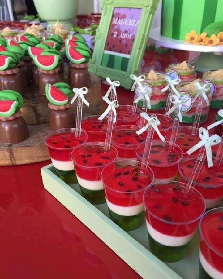 gelatinhas decorada para mesa de guloseimas de festa da magali Foto Pinterest
